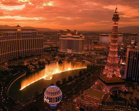 Sunrise in Las Vegas.