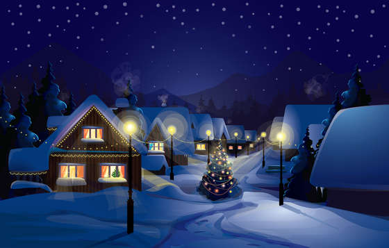 Christmas Night wallpaper.