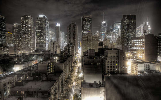 New York at Night Wallpaper.