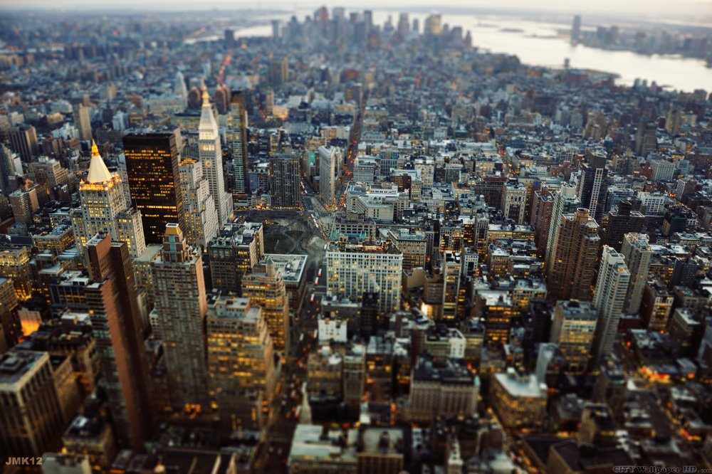 Photos de New York City avec une vue imprenable sur les rues de Manhattan. Glamour