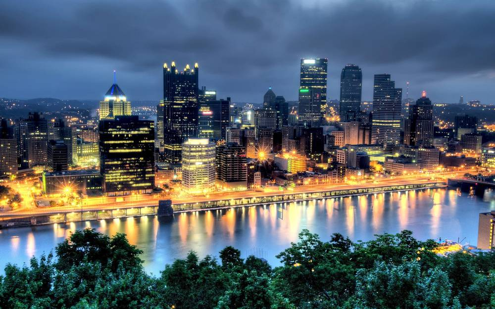Night lights of Pittsburgh.
