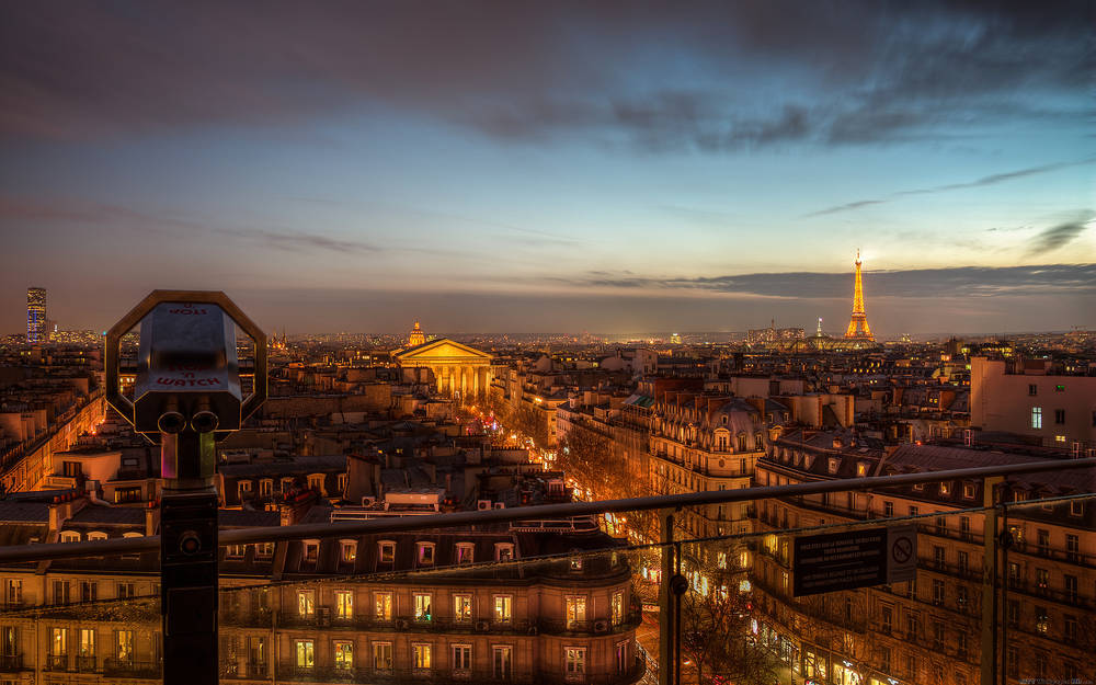 Wonderful views of Paris.