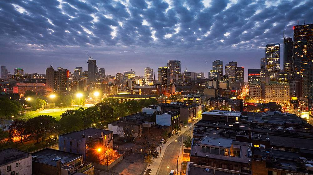 Beautiful evening in Canada.
