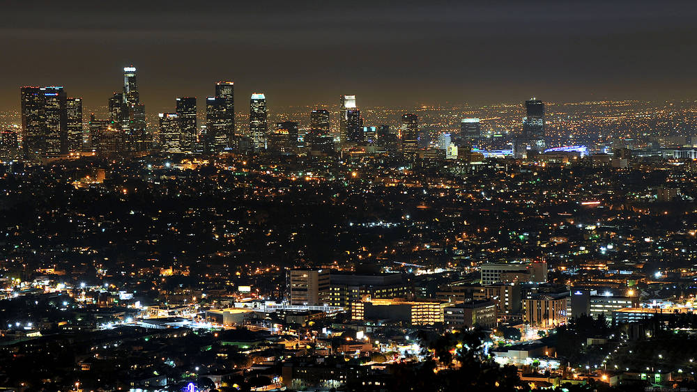 Night lights of Los Angeles.