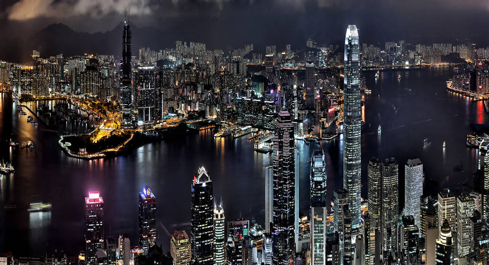 Night Hong Kong.