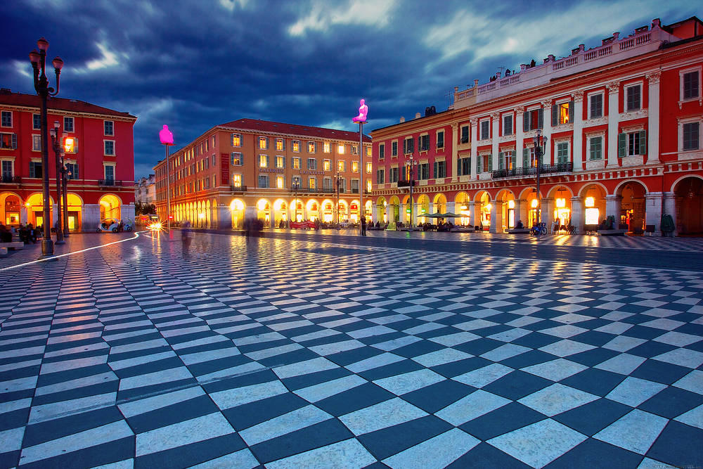 Place Massena in Nizza.
