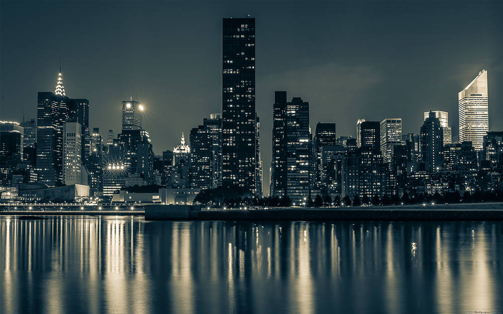 Bella vista sullo skyline di Manhattan.