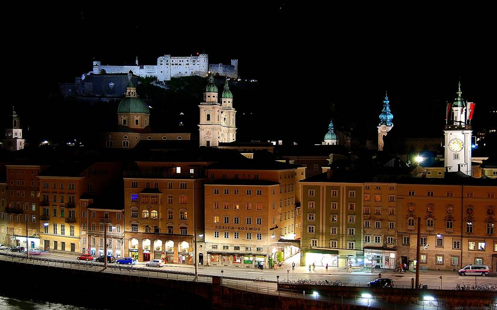 Wonderful Salzburg at night.