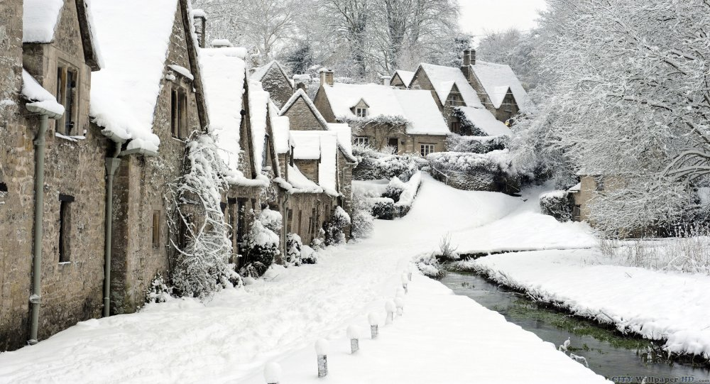 HD wallpaper beautiful historic village of Bibury.