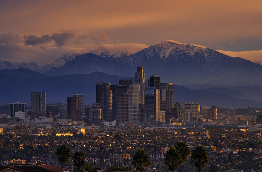 Excellent quality wallpaper with the image of Los Angeles.