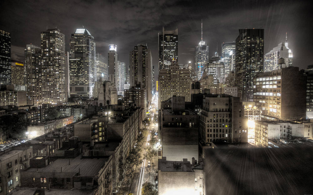 New York bei Nacht Wallpaper.