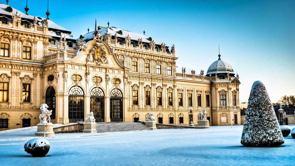 Winter Palace Belvedere HD wallpaper.