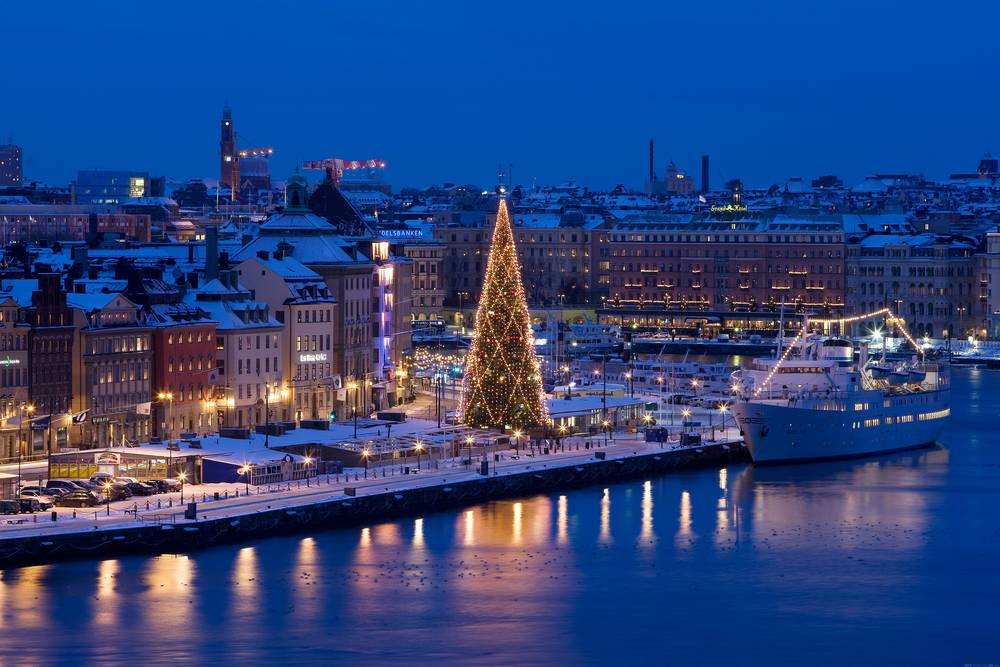 New Year in Stockholm wallpaper.