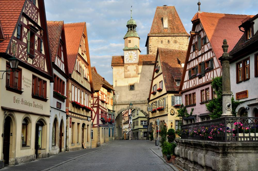 Carta da parati di Rothenburg Germania.