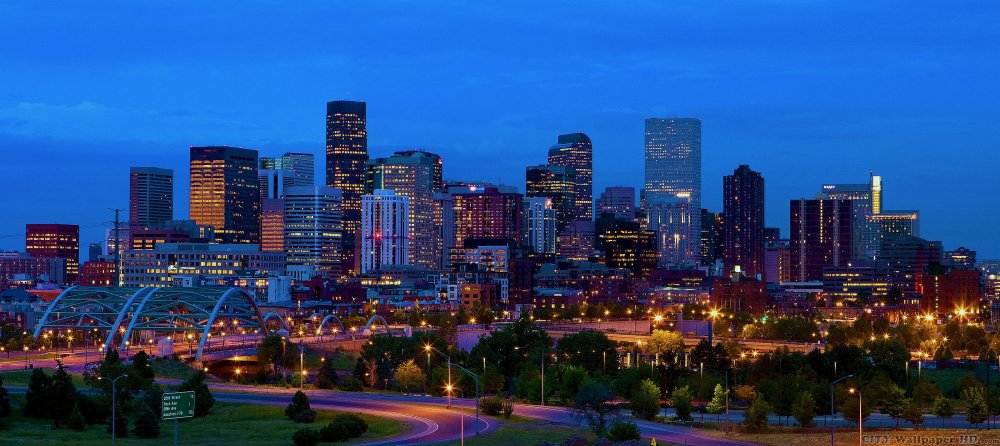 Ciudad descargar fotos con espectaculares vistas de la perspectiva de Denver. La ciudad occidental de América del Colorado.
