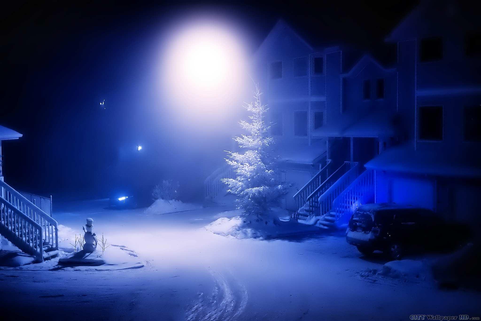 Noche De Navidad 2018 Vea Paisajes Urbanos Gratis Para