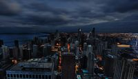 Twilight in Gotham City.