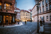 Attractive wallpaper with the image of the old district in Prague