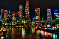 Night in Singapore.