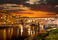 The old bridge Ponte Vecchio in Florence.