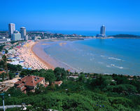 Beautiful beach of Qingdao.