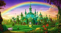 Emerald City on friendly magic wallpaper pretty colorful colors.