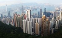 Top view of Hong Kong.