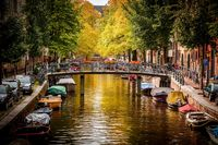 Early Autumn in Amsterdam HD wallpaper.