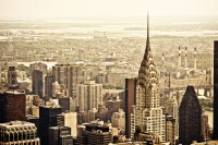 City of Peace, a charming New York City, with a brilliant view of the Chrysler Building.